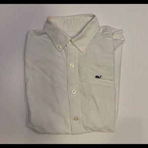 Boys medium 12-14 Vineyard Vines bottom down shirt